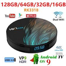 HK1 MAX TV Box 4K 3D 16/32/64/128GB BT Dual WiFi Android 9.0 Smart Media Player