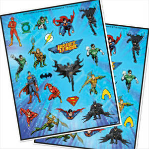 84 x Justice League Stickers Superhero Party Bag Fillers Party Favours Supplies