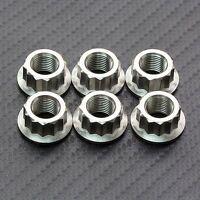 6x Titanium Rear Sprocket Nuts Ducati 1098, 1198, Panigale 1199, 1299 S R