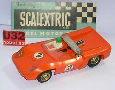 Scalextric C-4 Slot car Electra #2 Orange Excellent Etat Boite Ouverte