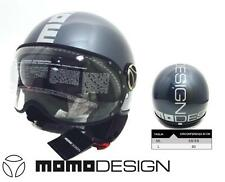 "CASCO JET MOMODESIGN FIGHTER ""FGTR-PLUS"" Col. Blue Denim-Titanio Taglia: ML e L"