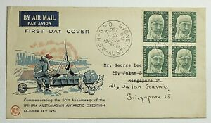 1961 Australia 50th Anv. Antarctic Expedition First Day Cover Mawson 5d SC #L7
