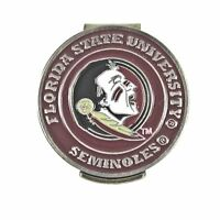 Florida State Seminoles Hat Clip with FSU Double Sided Golf Ball Marker