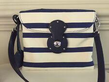 Ralph Lauren Collection Purple Label Canvas & Navy Crossbody Handbag  - NWT