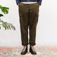 60s Jungle Pants Men's Vintage Multi-pocket Army Military Canvas Cargo Trousers