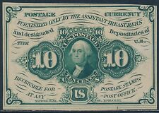 Fr1243 10¢ 1St Issue Choice Cu Fractional Currency S.E. W/O Monogram Bt705