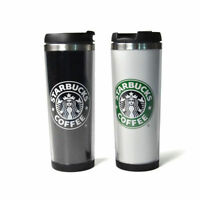 New Starbucks Double Wall Coffee Mug Tumbler Stainless Steel Travel Cups 420ml .