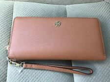AUTHENTIC Tory Burch York Saffiano Leather Zip Passport Continental Wallet- Tan