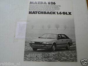 MAZDA 626 HATCHBACK 1.6 GLX AUTO TEST OVERDRUK AUTOVISIE 1983