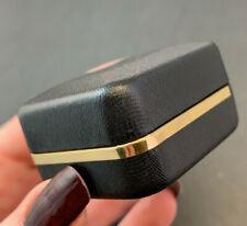 VINTAGE EARRING BOX BLACK CASE JEWELRY BOX