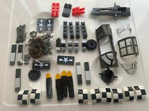 Mega Bloks CALL OF DUTY WW2 Fighter Strike Loose Mixed Parts Pieces pilot MOC