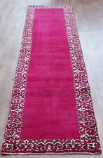 Traditional Vintage Wool Handmade Classic Oriental Area Rug Carpet 393 X 75 cm