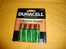 Duracell AA Battery DX1500 Rechargable Batteries 2500 mAh NiMH 1.2v Qty of 4 NEW