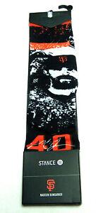 NEW STANCE Madison Bumgarner Splatter #40 SZ M 6-8.5 San Francisco SF Giant Sock