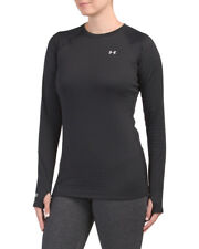 UNDER ARMOUR WOMENS 4.0 BASE LAYER size SMALL S NWT COLDGEAR CREW TOP BLACK