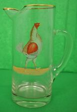 """""""Abercrombie & Fitch Rooster Cocktail Pitcher Hand-Painted by Frank Vosmansky"""""""