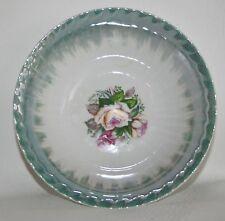 "Vintage Lusterware 6"" Bowl Japan iridescent sage green drip glaze RARE"