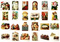 Victorian New Vtg Ephemera Christmas Trade Cards Scrapbook Lot Paper Huge