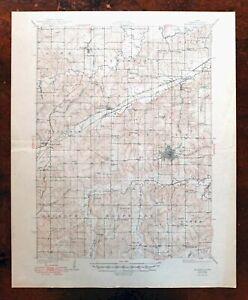 Indianola Iowa Vintage Original USGS Topographic Map 1931 Norwalk 15-minute Topo