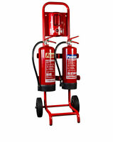 Compact Double Extinguisher Trolley **EXTINGUISHERS & SIGNAGE NOT INCLUDED**