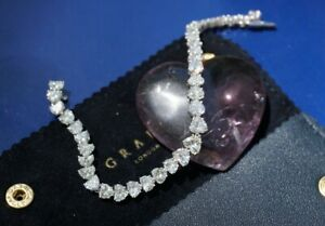 GRAFF Platinum & Diamond Heart Shape Diamond Bracelet, 18 Carats - RET. $220,000
