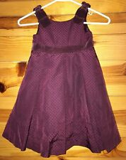 NWOT Gymboree Girls Tinsel & Berries Wine Pintucked Pleated Dot Tulle Dress 3