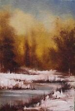 Hazy Winters Day  Daily Impressionist Original Oil Painting by Terry P Wylde