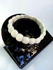 Cadeau Mariage Bracelet de Lithothérapie en Howlite Bijoux en Pierre Naturelle