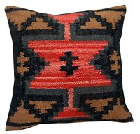 Vintage Jute Cushions Throw Indian Handmade Kilim Pillows Cover Hand loomed 1032