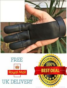 Archery gloves 3 Finger Gloves Shooting Glove/Archery Leather Gloves