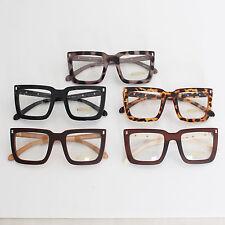 Fashion Trend Men Women Unisex Clear Lens Spectacles Nerd Geek Glasses Eyewear