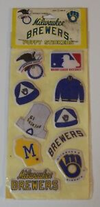 SEALED Original 1983 Imperial MILWAUKEE BREWERS Puffy Stickers