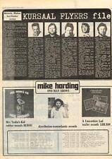 Kursaal Flyers Factfinder MM5 Mike Harding Tour advert 1975