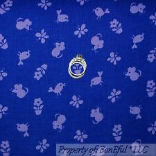 BonEful Fabric FQ Corduroy Cotton Purple Tone Bird Flower Butterfly Mouse Stripe