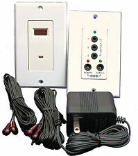 IR Repeater System  In Wall Kit Controls 4 devices Professional look and feel