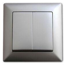 Ein- und Ausschalter Serienschalter Lichtschalter Silber NEU OVP