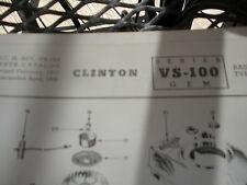 clinton parts list,clinton vs-100 illustrated antique clinton engine 1963pr