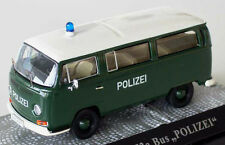 "wonderful German modelcar VW T2a BUS ""POLIZEI NÜRNBERG"" 1972 - darkgreen - 1/43"