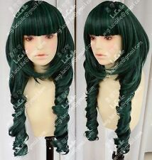 Dead Master DM Styled Cosplay Wig Black/Green Rock Shooter wigs