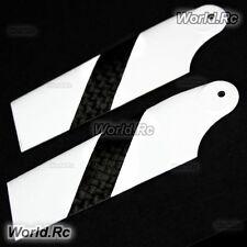 Tarot 3k Fibra De Carbono Tail Rotor Blades Blanco Para Trex 450 Rc Heli (rhs2330-02)