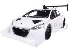 2013 PEUGEOT 208 T16 PIKES PEAK RACE CAR PLAIN WHITE VERSION 1/18 AUTOART 81355