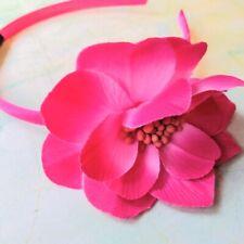 New Fabric Pink Flower Rockabilly Hairband Fascinator Wedding Prom Bridesmaid