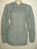 Ladies/girls soft touch chunky Green jumper ANIMAL hoodie Size 10,12