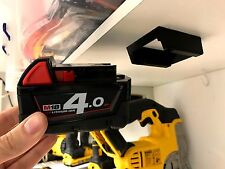 5x BATTERY MOUNTS for MILWAUKEE M18 18v Storage Holder Shelf Rack Stand Slots