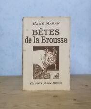 AFRIQUE ANIMAUX SAUVAGES HISTOIRES BETES DE LA BROUSSE (RENE MARAN 1941).