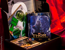 THOR The Dark World 3D + 2D Blu-ray Zavvi Lenticular Steelbook + Marvel Zbox