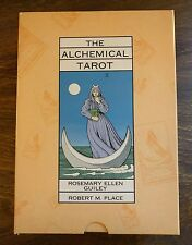 RARE! The Alchemical Tarot COMPETE! Robert Place & Rosemary Ellen Guiley 1995