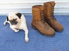 "CE Schmidt Men's 9 M 42 Logger WP 400 G Brown Leather Steel Toe 10"" Work Boots"