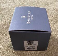 Beautiful Waterford Crystal Diamond Paperweight • Boxed • Ireland • Pyramid