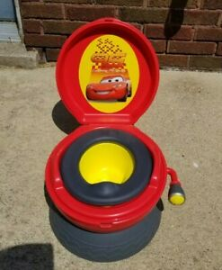 First Years Disney Cars Lighting McQueen Potty Training System Rare Sound